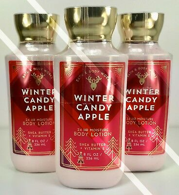 3 Bath Body Works*winter Candy Apple*lotion Cream*new*free Priority Ship!