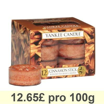 Yankee Candle Tea Light, Cinnamon Stick, Scented Candle, Teapot Warmer Set Of 12