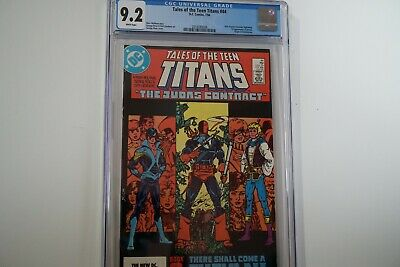 Tales Of The Teen Titans #44 Cgc 9.2 White Pages 1st Nightwing Jericho
