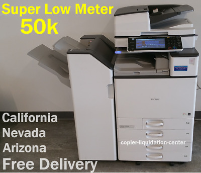 Ricoh Mp C4503, Mpc4503 Color Copier Print Scan 45 Ppm - Very Low Meter Nm