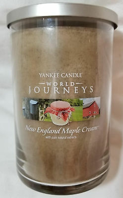 Yankee Candle World Journeys New England Maple  Large 2-wick Tumbler Brown 20oz