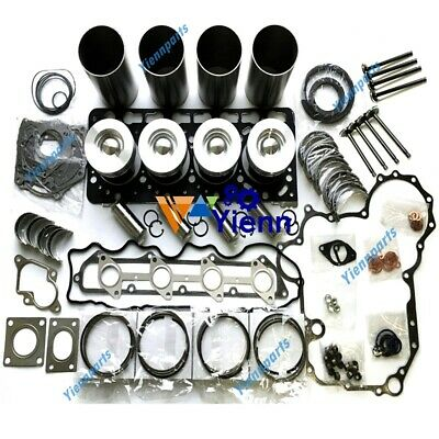 V3800 Overhaul Rebuild Kit For Kubota Engine Water Oil Pump Conrod Valve Guide