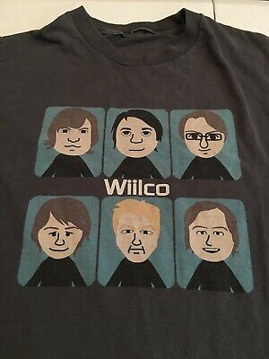 Vtg Super Rare! Wilco T-shirt Faces Yankee Hotel Foxtrot Band T Size Small