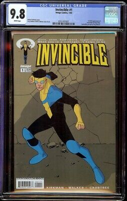Invincible # 1 Cgc 9.8 White (image, 2003) 1st Appearance Of Invincible