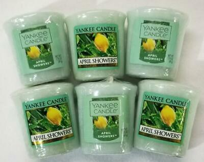 Yankee Candle Votives: April Showers Wax Melts Lot Of 6 Green Wax New Fresh
