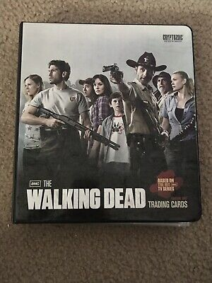 Walking Dead Season 1 Binder Mini Master Set With Ricks Kill Blood Variant Card