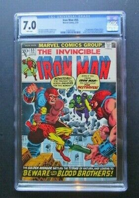 The Invincible Iron Man 55  Cgc 7.0  First Appearance Thanos And Drax