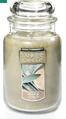 Lot Of 2 Yankee Candle  French Vanilla And Sage & Citrus Jar Candle  22 Oz.