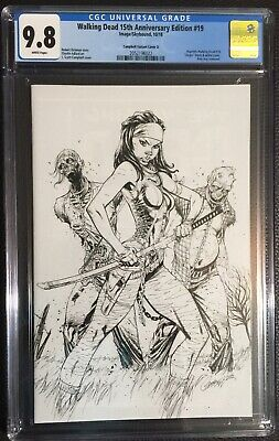 Walking Dead #19 Campbell B&w Virgin Variant Cgc 9.8 Image Comics