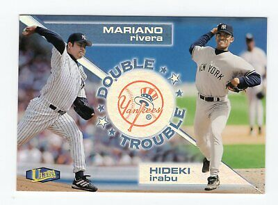 1998 Ultra Double Trouble Mariano Rivera / Hideki Irabu #18 Of 20 Insert Yankee