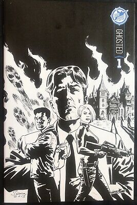 Ghosted #1 Skybound 5th Anniversary Sdcc 2015 Rare B&w Variant Cover