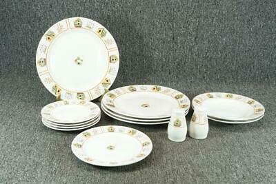 Vintage Gibson Aviara Pattern Everyday Housewares 13 Piece Dinnerware Set