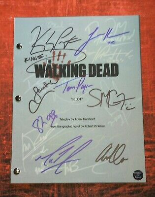 The Walking Dead 19x Cast Hand Signed Script Coa Norman Reedus, Danai Gurira