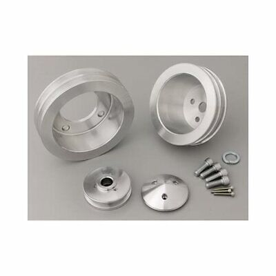 March Performance Pulley Set V-belt Aluminum Clear Ford 302/351w Set Of 3 1637