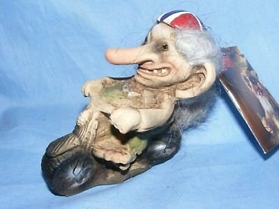 Ny Form Nyform Troll On Motorbike Norway Collectable Norwegian T154