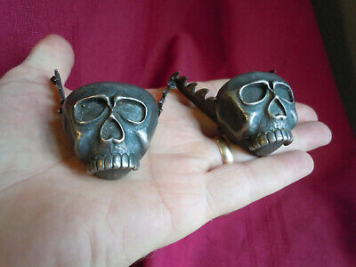 Western Sterling Silver Skull Cowboy Boots Collar Tips Breaking Bad Cousins
