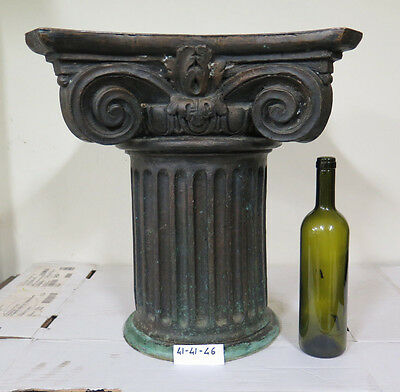 Base For Small Table Bronze Shaped Like Cap Engraving Fusion Wax Lost Period 900