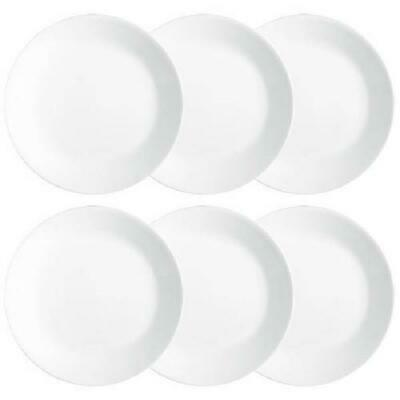 """Corelle Winter Frost White 10.25"""" Dinner Plates (6) Each Usps Priority Available"""