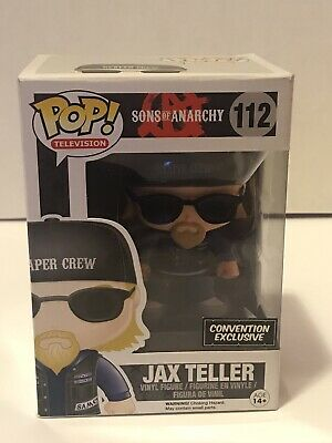 Sons Of Anarchy Jax Teller Funko 112 Pop Reaper Crew Convention Exclusive