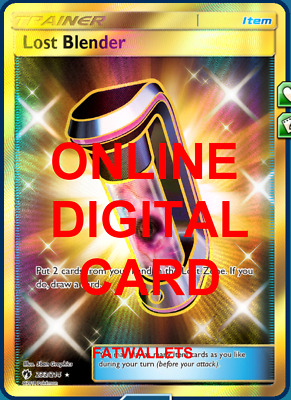 1X Lost Blender 233/214 Lost Thunder Pokemon Online Digital Card