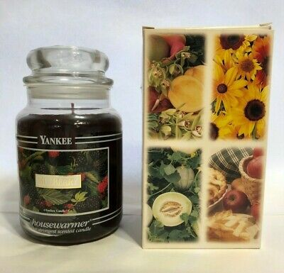 Vintage Yankee Candle Mulberry  22 Oz Black Band With Box