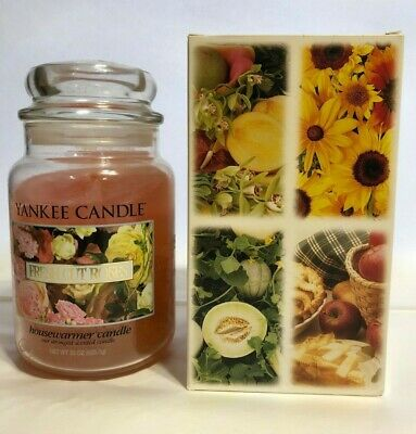 Vintage Yankee Candle Fresh Cut Roses  22 Oz  Housewarmer Candle With Box