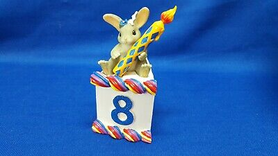 "Charming Tails 8 Year Old Birthday Cake Titled ""bunnie"" Excellent Condition"