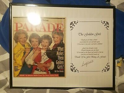 Rare! Parade Magazine Signed By All 4 Golden Girls Also Includes Additional...