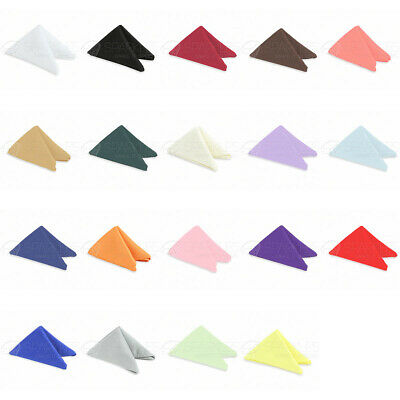 """250 Pcs 17""""x17"""" Or 20""""x20"""" Cotton Cloth Linen Dinner Napkins With Or W/o Rings"""