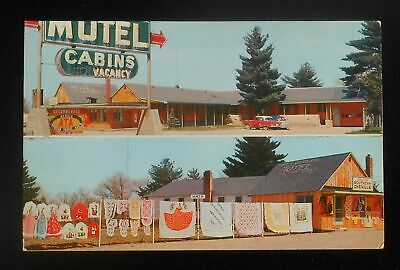 1950s Tufts Woodland Motel Southern Chenille Gifts Old Cars Wisconsin Dells Wi