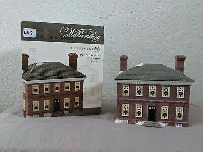 Dept 56 Colonial Williamsburg George Wythe House 4025418