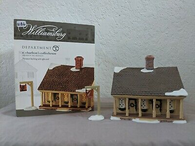 Dept 56 Colonial Williamsburg #4023619 R. Charlton's Coffeehouse With Box