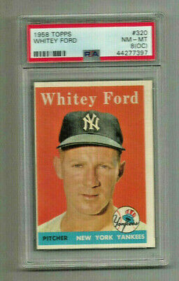 1958 Topps Whitey Ford #320 Psa Nm-mt8 Hof Classic Vintage Must Have Yankee Star