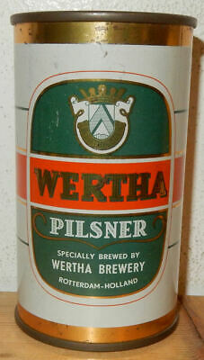 Wherta Pilsner Beer Flat Top Can From Holland (34cl)  Very Rare !!