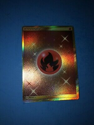 Pokemon Card Fire Energy 167/147 Burning Shadows SECRET RARE