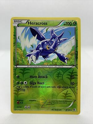 2012 Heracross Holo Reverse Rare Boundaries Crossed Pokemon Card Nm 8/149