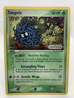 2006 Tangela Holo Ultra Rare Ex Legend Maker Pokemon Card NM 44/92