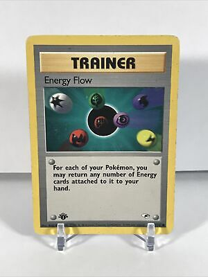Energy Flow 122/132 1st Edition Gym Heroes - Vintage Pokemon Card - HP