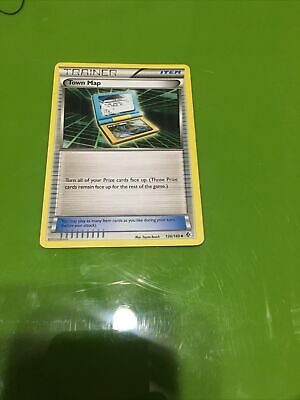 Pokemon Town Map 136/149 Boundaries Crossed Uncommon Moderately Played Fast Ship