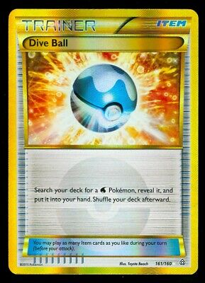 Pokemon DIVE BALL 161/160 - XY Primal Clash SECRET RARE FULL ART - MINT