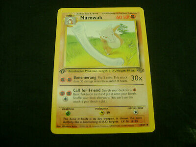 Pokemon Card Marowak 39/64 1st Edition Jungle Set Non-Holo WOTC