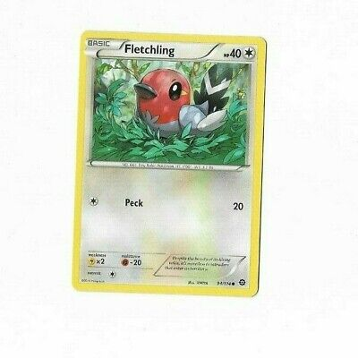 Pokemon Card Fletchling 94/114 Steam Siege Excellent To Near Mint