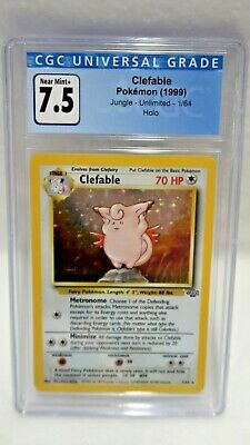 Pokemon: 1999 Clefable Graded CGC 7.5 NM Jungle Unlimited Holo
