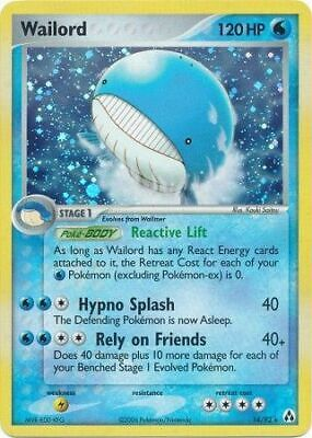 Wailord - 14/92 - Holo Rare Legend Maker Pokemon LP