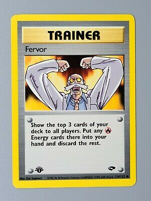 1st Edition Fervor 124/132 Gym Challenge Pokemon