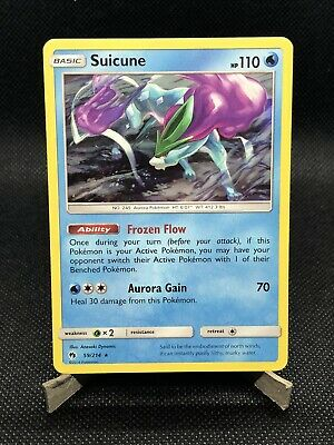 Suicune HOLO RARE 59/214 (NM/MINT) SM Lost Thunder Pokemon Cards PSA READY