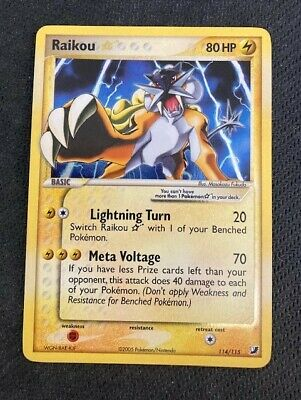 Pokemon TCG Ex Unseen Forces RAIKOU Gold Star Shiny 114/115