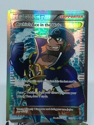 Archie's Ace In the Hole Full Art 157/160 - Primal Clash Pokemon TCG