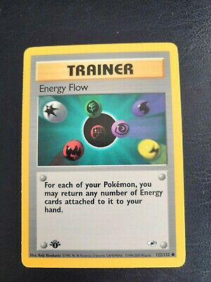 Energy flow Gym Heroes Trainer Pokemon Card 1st Edition 122/132 - NM