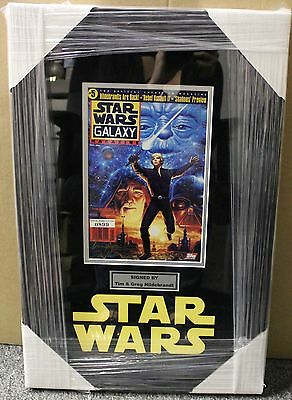 Star Wars Shadows Of The Empire Framed Comic Book Signed By The Hidlebrandt Bros